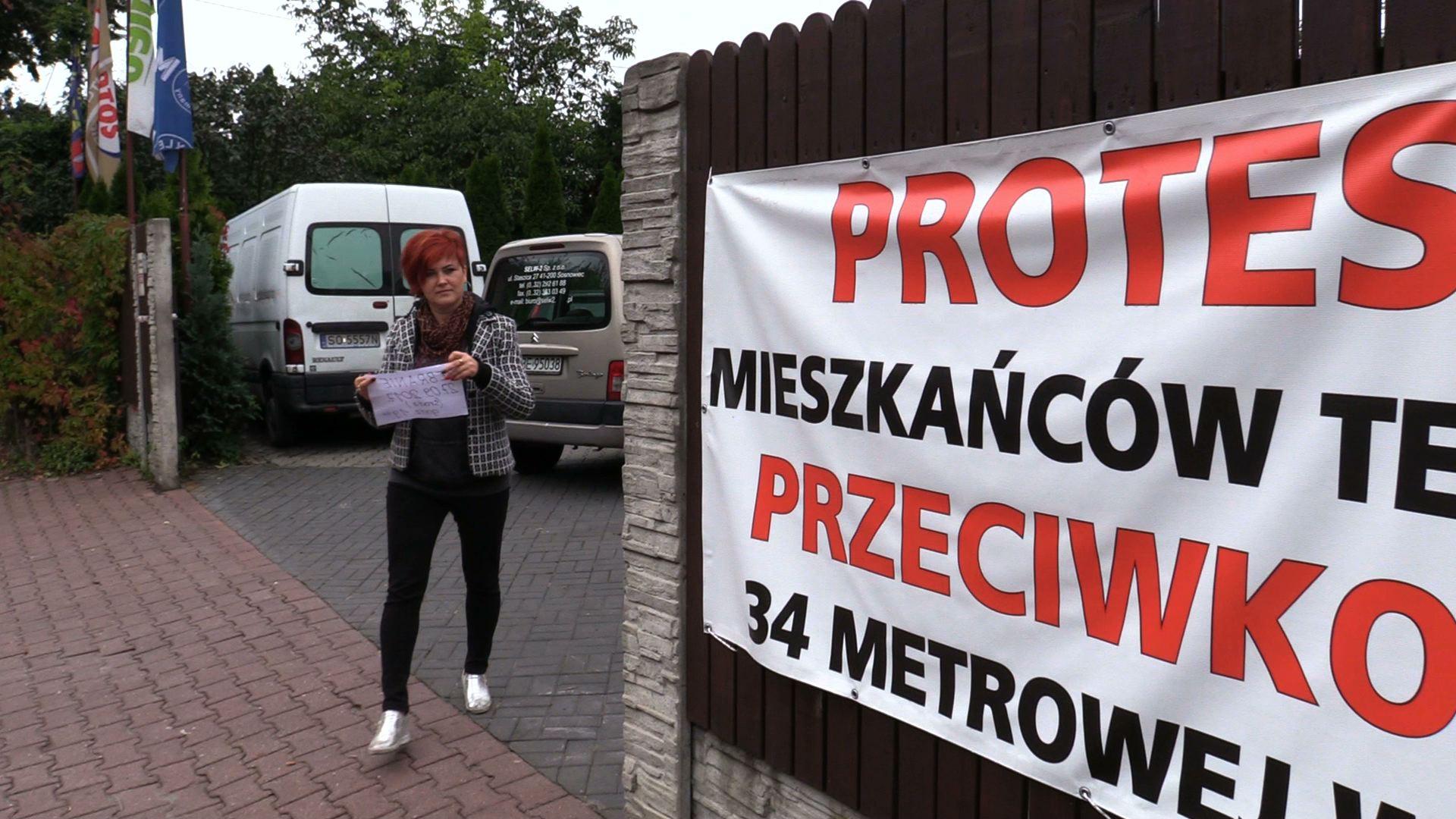 Maszt w Sosnowcu wywołał protest mieszkańców Dąbrowy Górniczej