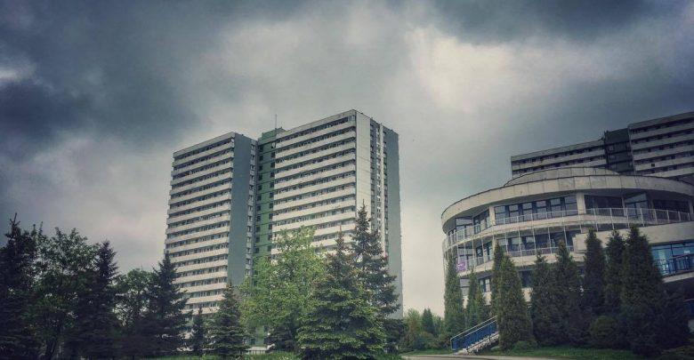 Korytarz powietrzny nad os.Tysiąclecia w Katowicach