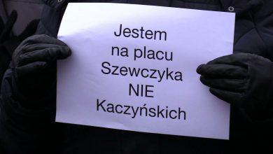 Katowice mają plac Marii i Lecha Kaczyńskich. Szewczyk zdekomunizowany zgodnie z prawem (fot.TVS)