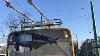 Ostrzelany trolejbus w Tychach [ZDJĘCIA] Sprawca zatrzymany! (fot. KMP Tychy)