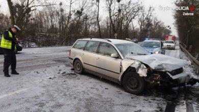 Wypadek na DK88 w Zabrzu! [ZDJĘCIA] Zderzyły się dwa samochody