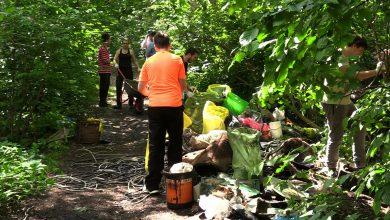Katowice: Mieszkańcy sprzątali Alpy w Parku Wełnowieckim. Mają dość bałaganu