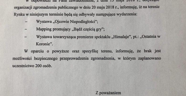 Prezydent Marcin Krupa nie zgadza się na zgromadzenie publiczne Młodzieży Wszechpolskiej w Katowicach (fot.UM Katowice)