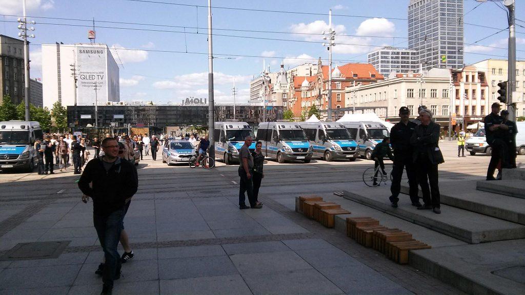 Manifestację przez cały czas zabezpieczała policja