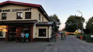Wypadek w kopalni Piast Ziemowit w Lędzinach. Górnika przygniotły spadające skały (fot.www.112tychy.pl)