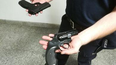 Ganiał z bronią w centrum miasta. Groził przechodniom (fot.KMP Zielona Góra)