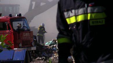 Pożar makulatury w Piekarach Śląskich: przyczyny pożaru wciąż są nieznane