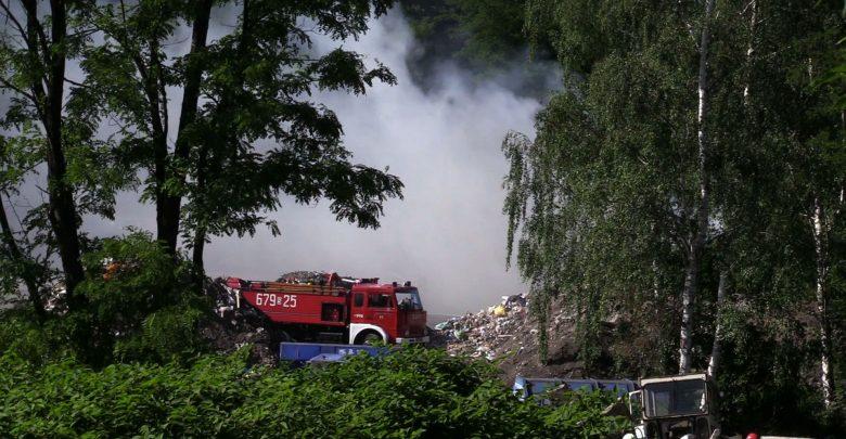 Kolejne pożary na składowiskach odpadów w woj.śląskim [WIDEO] (fot.mat.TVS)