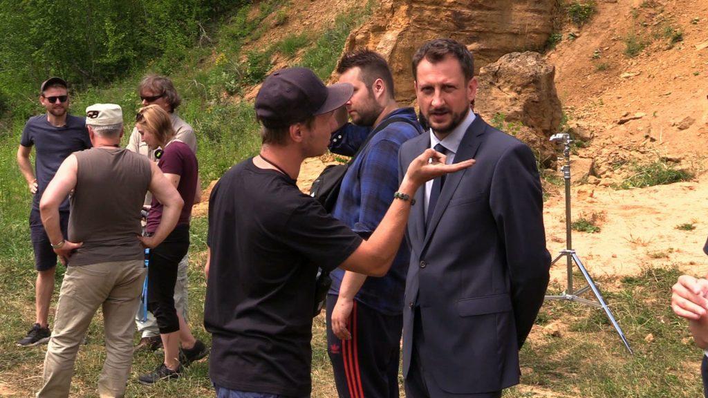 """Topa, Kijowska i Simlat na planie filmy """"Żelazny Most"""". Zdjęcia powstają w Bytomiu"""