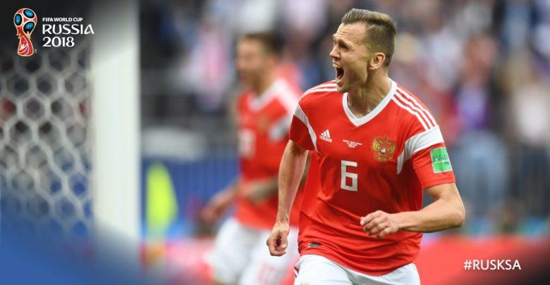 Pewna wygrana Rosjan w meczu otwarcia! Arabia Saudyjska na kolanach (fot. twitter FIFA)