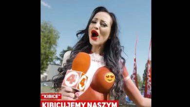 Małgorzata Godlewska śpiewa NIC SIĘ NIE STAŁO dla reprezentacji Polski (fot.youtube.com)
