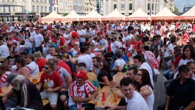 Ogromne tłumy w Katowicach! Pod Skarbkiem strefa kibica pęka w szwach! Zaczyna się transmisja z meczu Polska-Senegal (fot.Paweł Jędrusik)