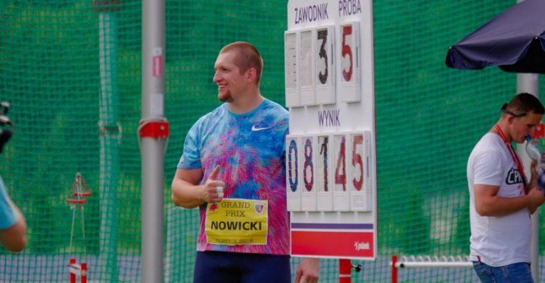 Wojciech Nowicki rzucił młotem 81,45 m podczas niedzielnego międzynarodowego mityngu lekkoatletycznego w Gliwicach (fot.UM Gliwice)