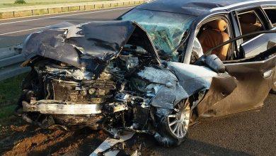 Czołowe zderzenie z tirem [ZDJĘCIA] Kierowca Audi jechał pod prąd, był pijany i miał zakaz prowadzenia pojazdu (fot.Policja Lubuska)