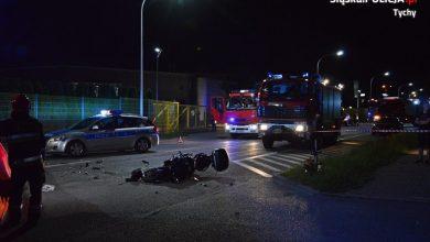 Śmiertelny wypadek motocyklisty w Tychach [ZDJĘCIA] (fot.KMP Tychy)