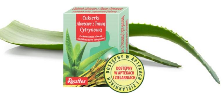 Rozważ z czego korzystasz i co jesz. My z apteki i zielarni polecamy firmy Reutter oryginalne Cukierki Aloesowe z Trawą Cytrynową! (fot.materiały promocyjne)
