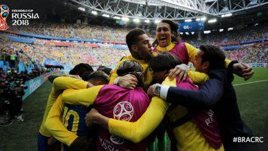 Brazylia pokonuje Kostarykę 2-0 po dramatycznym meczu, w którym sędzia doliczył 6, a jak się okazało - w sumie 9 minut! (fot.FIFA.Twitter)