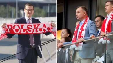Najważniejsi kibice w kraju? Prezydent i premier będą kibicowali polskiej reprezentacji (źr: TVP)