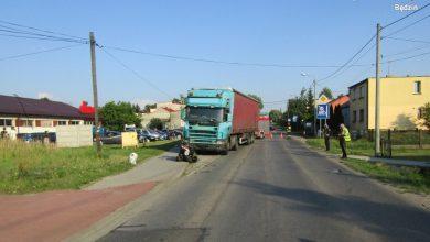 Śląskie: Nie żyje 43-letni motocyklista. Zderzył się z ciężarówką (fot.KPP Będzin)