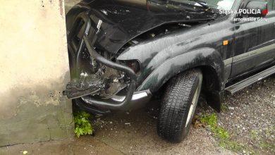 Tarnowskie Góry: Staranował 6 aut. Wszystko przez aktówkę (fot.KPP Tarnowskie Góry)