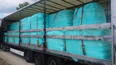 Transport odpadów, które z Anglii miały trafić do Chorzowa zatrzymany przez policję! (fot.KMP Wrocław)