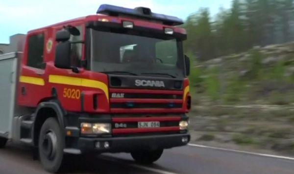 Polscy strażacy pojechali do Szwecji gasić pożary lasów. Są witani jak bohaterowie (fot.TVP Info)