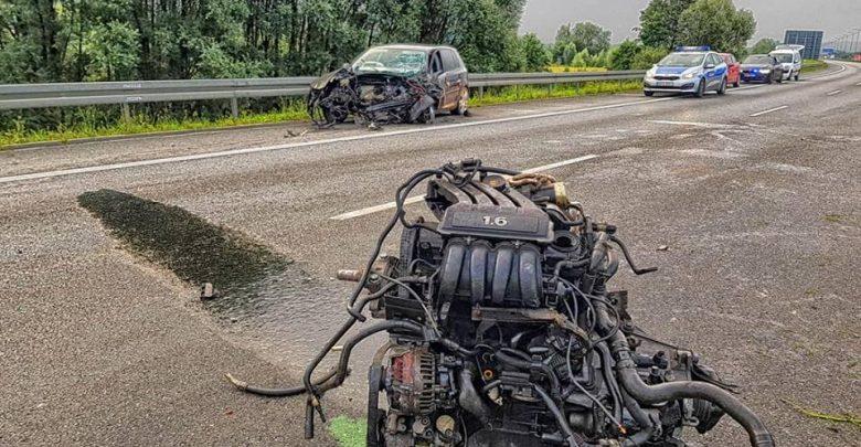 Tragiczny wypadek na A4. Kierowca jechał pod prąd [ZDJĘCIA] (fot.KWP Kraków)