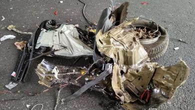 Zderzył się z busem. Chevrolet rozpadł się na kawałki [ZDJĘCIA] (fot.Policja Lubelska)