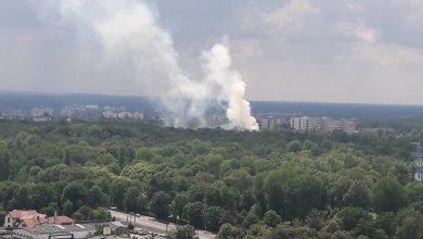Pożar w Katowicach! Ogromny słup dymu w rejonie Parku Kościuszki (fot.Łukasz Kądziołka)