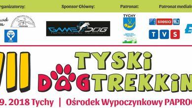 Już po raz siódmy, 8 września 2018 roku, na terenie Ośrodka Rekreacyjnego Paprocany odbędzie się Tyski Dogtrekking