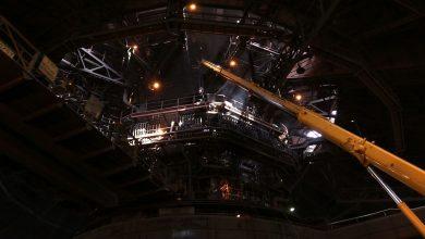 Remont wielkiego pieca w dąbrowskiej Hucie ArcelorMittal [WIDEO] To w nim produkuje się rocznie 2 mln ton stali (fot.mat.TVS)