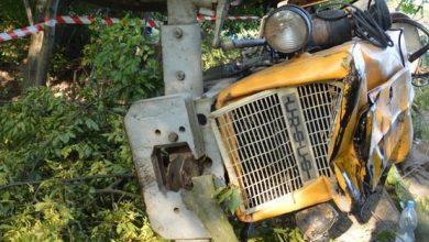 Tragiczny wypadek przy wycince drzew. Nie żyje 65-letni traktorzysta (fot.Policja Lubelska)