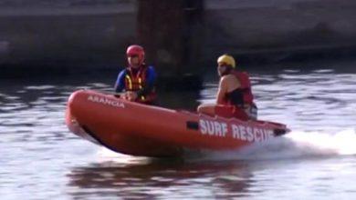 Dramat w Darłówku: Z morza wyłowiono ciało 11-latki. Trwają poszukiwania 13-latka (fot.TVP Info)