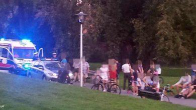 Tychy: Nieszczęśliwy wypadek na terenie parku św. Franciszka z Asyżu (fot.112 Tychy - Tyskie Służby Ratownicze)