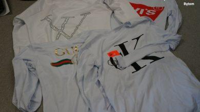 Bytom: Policjanci przejęli podrobione ubrania. Można je było kupić w jednym ze sklepów w cenrum miasta (fot.KMP Bytom)