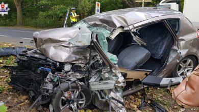 Zderzenie osobówki z tirem [FOTO] Kierowca samochodu osobowego zginął na miejscu (fot.Policja Lubelska)