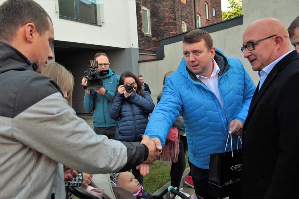 """Kolejne """"Mieszkania dla Młodych"""" oddane do użytku w Chorzowie (fot.Marcin Michalik/facebook)"""