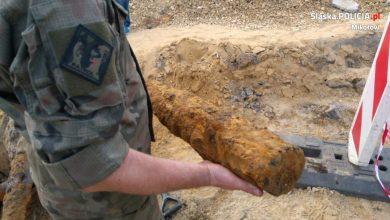 13 września znowu zamkną wiślankę w Mikołowie. Przy DK 81 znaleziono arsenał niewybuchów (fot.KWP Katowice)