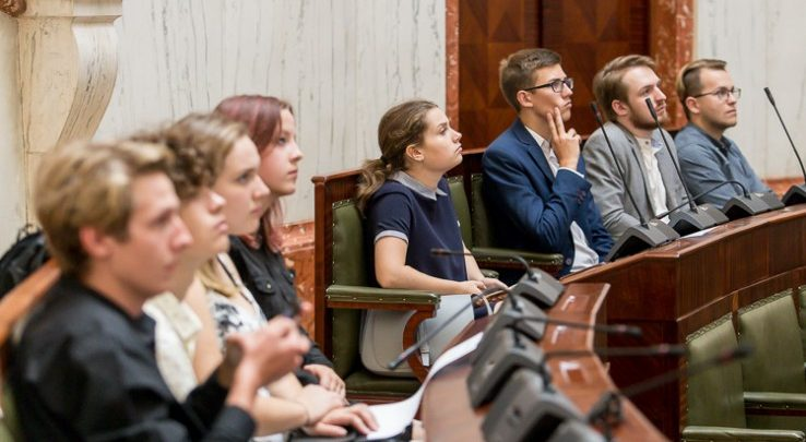 Siedemnaście spośród 58 radnych Młodzieżowego Sejmiku Województwa Śląskiego kończy swoją kadencję (fot.slaskie.pl)