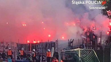 Są zatrzymania po meczu Zagłębia Sosnowiec z Cracovią. Na razie policja zatrzymała trzech kibiców (fot.KMP Sosnowiec)