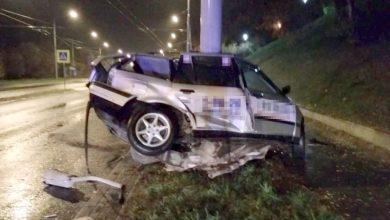 Uderzył w słup latarni. Kierowca BMW zginął na miejscu (fot.Policja Lubelska)
