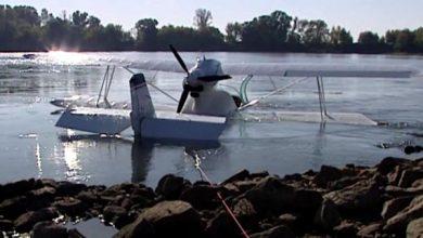 Awaryjne lądowanie samolotu na Wiśle! Na ratunek ludziom w maszynie ruszyli strażacy (fot.TVP Info)