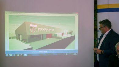 Nowy stadion Polonii Bytom ma być gotowy częściowo już w przyszłym roku. Stadion będzie miał trzy trybuny: północną, południową i zachodnią (fot.UM Bytom)