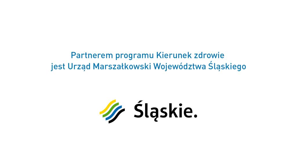 """Partnerem odcinka programu """"Kierunek zdrowie"""" jest Urząd Marszałkowski Województwa Śląskiego"""