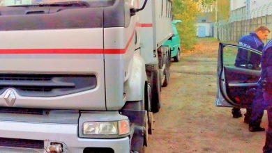 Ciężarówka pełna toksycznych odpadów zatrzymana w Gliwicach (fot.KMP Gliwice)