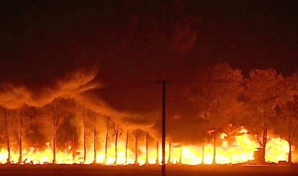 Wielki pożar składowiska pod Łęczycą. W powietrzu unosi się trujący dym