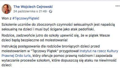 """Wojciech Cejrowski o """"Tęczowym Piątku"""": won! To napaść seksualna"""