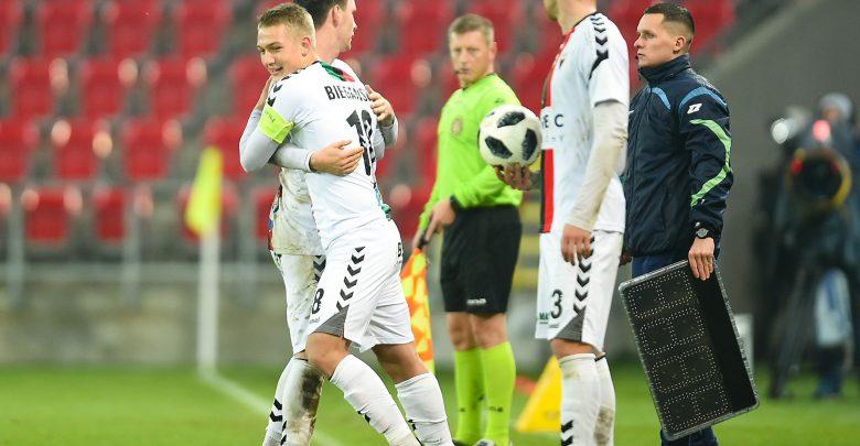 Jan Biegański - chociaż kapitanem GKS Tychy był na boisku zaledwie kilka minut - ustanowił nowy rekord. Został najmłodszym kapitanem drużyny w historii! (fot.GKS Tychy)Credit: Lukasz Sobala / Press Focus