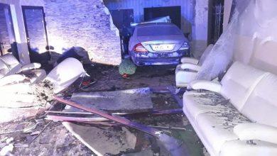Ale zrobił rozpierduchę. Pijany 22-latek wjechał do sali bankietowej [ZDJĘCIA] (fot.policja.pl)