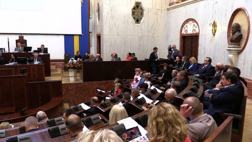 W tym składzie w tej sali Sejmik Województwa Śląskiego zebrał się po raz ostatni. Dziś odbyła się jego 60, ostatnia sesja
